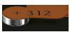 Hörgeräte-Batterie, Größe 312